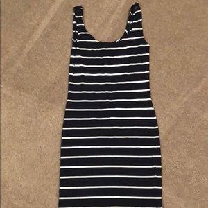 Navy & white stripped dress